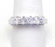 Ladies 18k White Gold & Platinum 1.65 Cts. 5 Princess Cut Diamond Ring