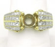 Ladies 18k Yellow Gold Channel Set 1.5 Cts. Diamonds Semi-Mount