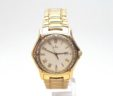 Ladies MidSize Ebel 1911 18k Gold 1.26 Cts. Diamond Bezel Date Quartz Watch