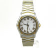 Ladies Ebel Sport Classique Wave 18k Yellow Gold & SS White Dial Quartz Watch