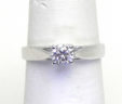 Ladies Platinum Solitare Diamond Engagement Ring