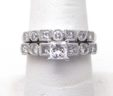Ladies White Gold 1.25 Cts. Diamond Wedding Band Engagement Set