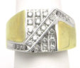 Men's 14k Yellow Gold Channel Set Diamonds Band Ring