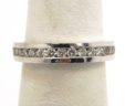 Ladies 14k White Gold Diamonds Wedding Band