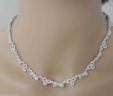Gorgeous Ladies 14k White Gold 5.75 Cts. Diamonds Link Necklace