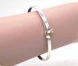 Tiffany & Co Ladies 18k Yellow Gold & 925 Sterling Silver Hook Bangle