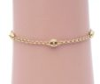 Ladies 14k Yellow Gold Multi-Pucci Link Anklet