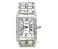 Ladies Geneve 0585 14k White Gold 1.02 Cts. Diamonds Bezel Quartz Watch