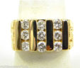 Men's 14k Yellow Gold 1 Cts. Diamonds Nugget Ring