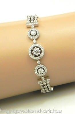 29ec772d5ee5e Ladies 14k White Gold 4.38 Cts Vintage Diamond Bracelet