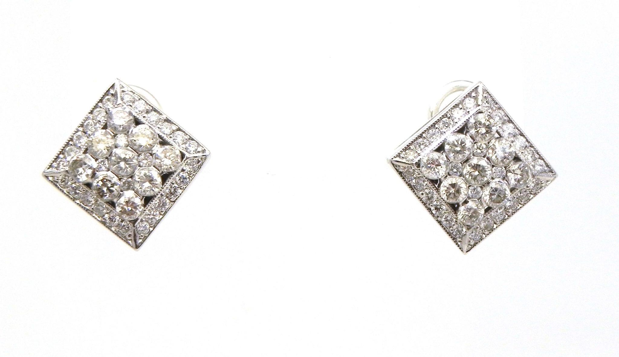 Ladies 14k White Gold 2 68 Cts Diamonds Rhombus Shape