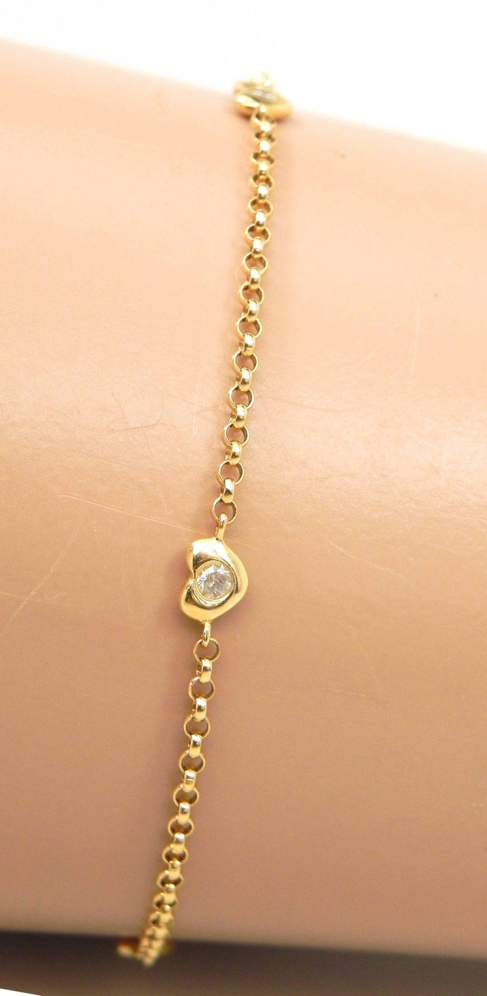 Thick Mens Bracelets Gold