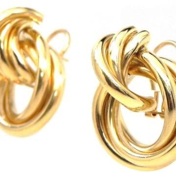 Las 14k Yellow Gold Knot Earrings