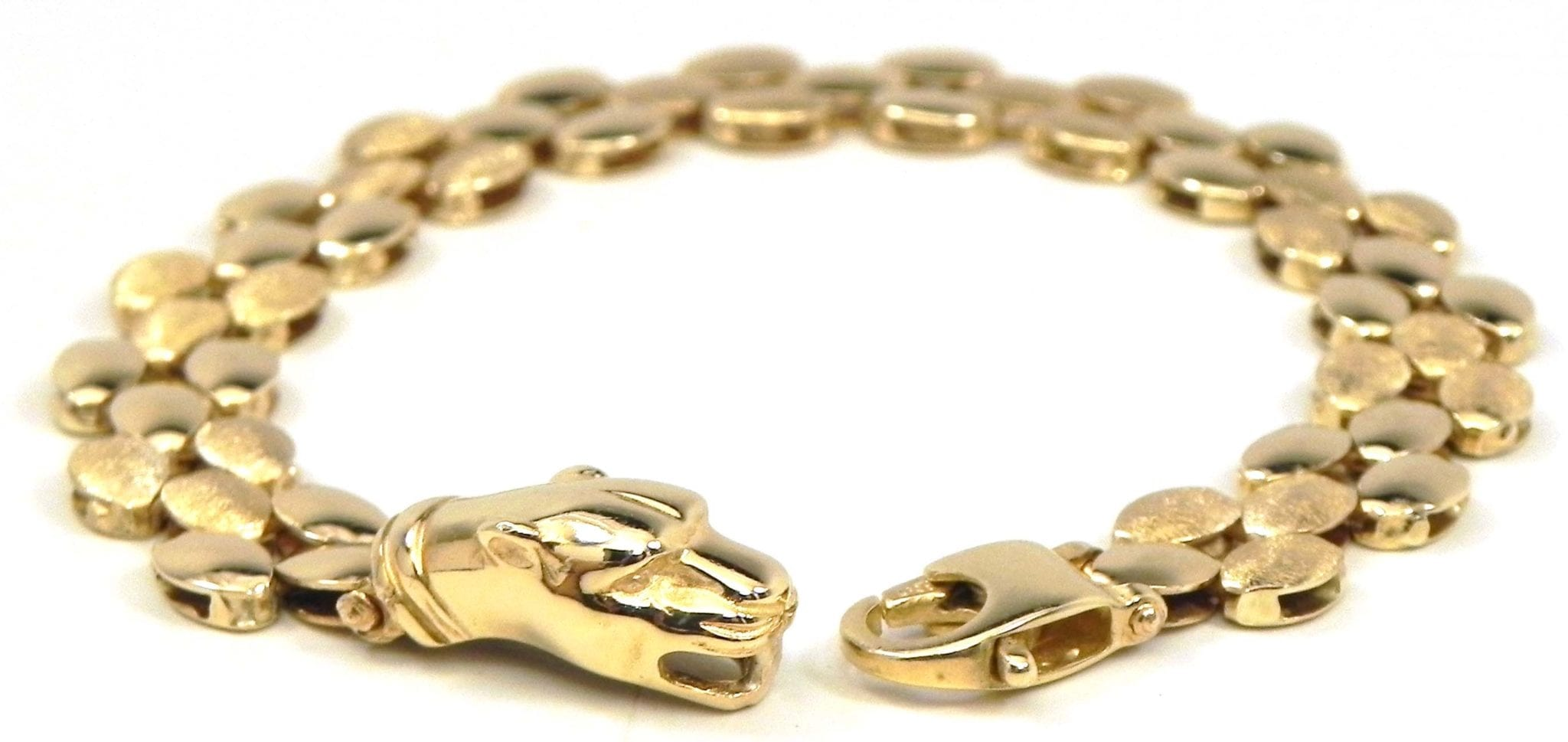 Ladies 14k Yellow Gold Panther Clasp Bracelet | Bright Jewelers