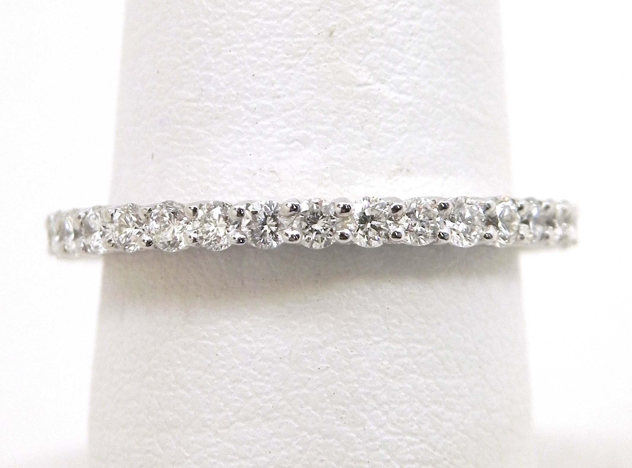 la s 18k white gold 1 02 cts diamonds eternity wedding band