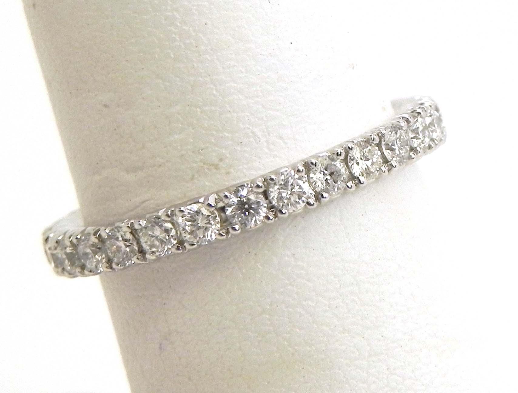la s 18k white gold diamonds eternity wedding band ring bright