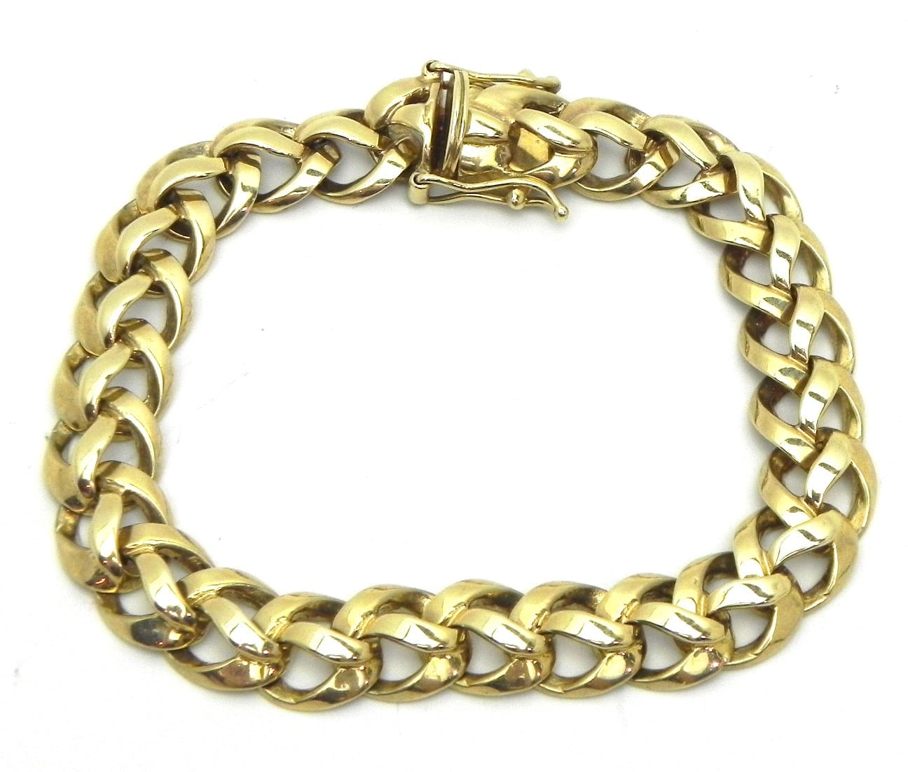 Casted Ladies 14k Yellow Gold Braided Link 27.6 Grams ...