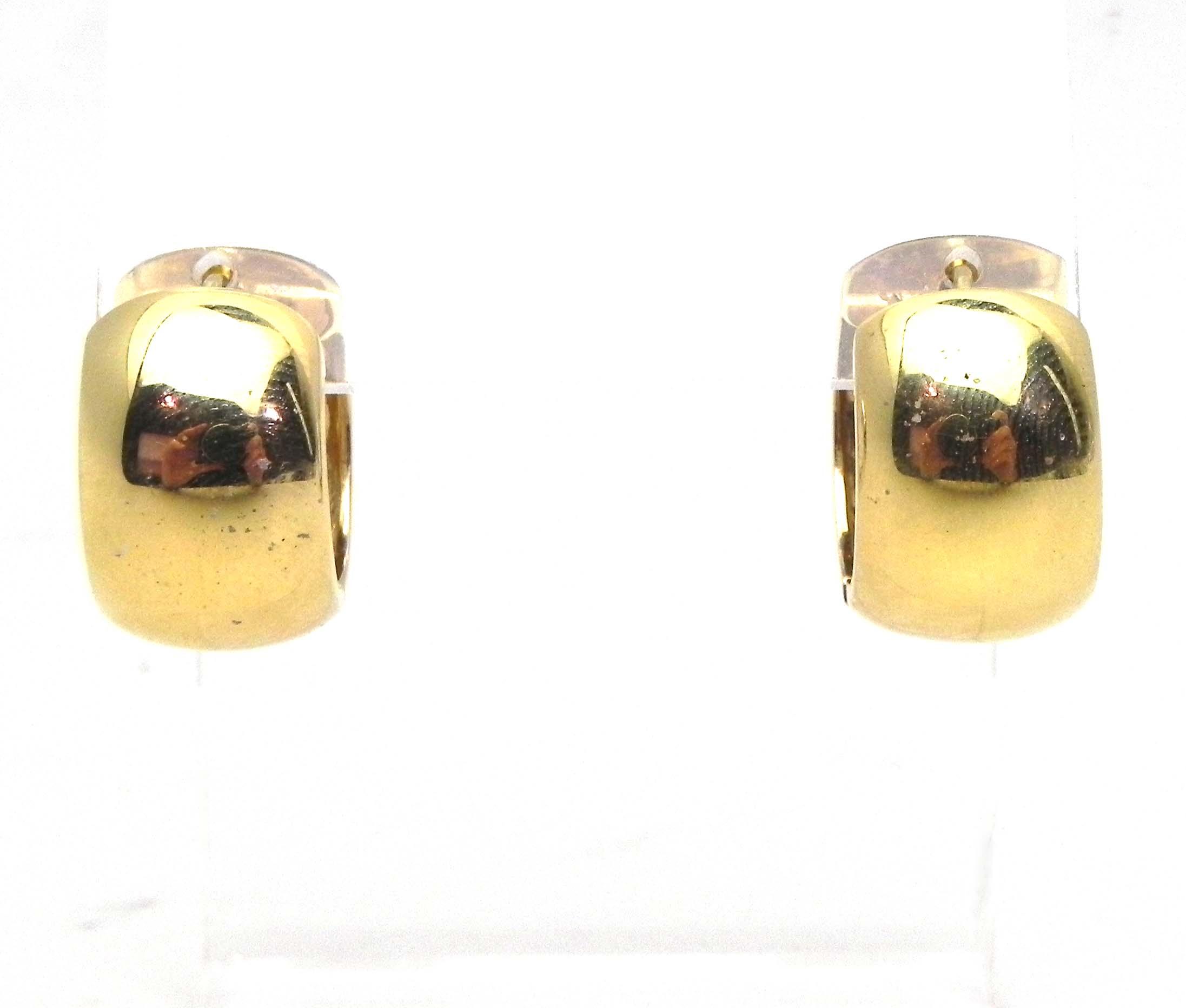 Ladies 14k Yellow Gold Wide Hoop 16 2 Grams Earrings W Huggie Back