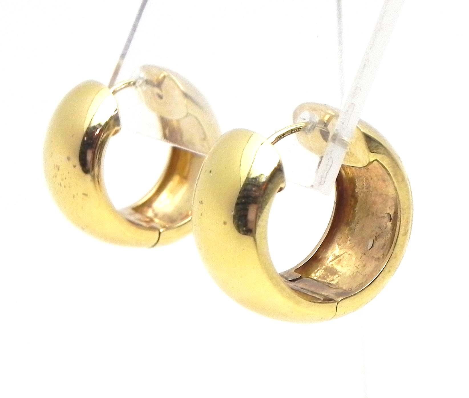 Ladies 14k Yellow Gold Wide Hoop 16 2 Grams Earrings W